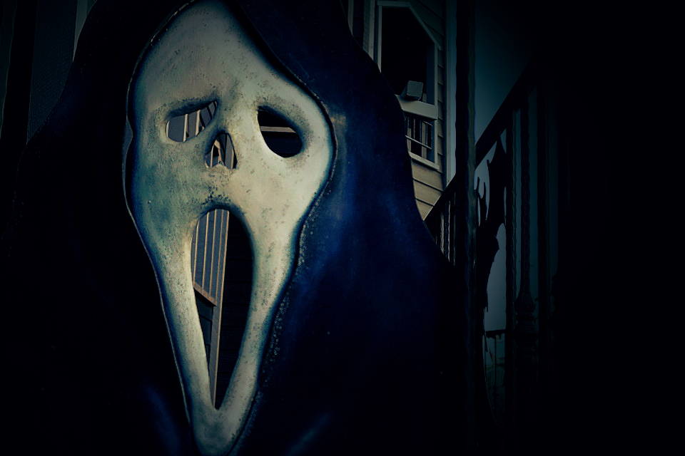 ghost creepy scary halloween haunted mask horror scare