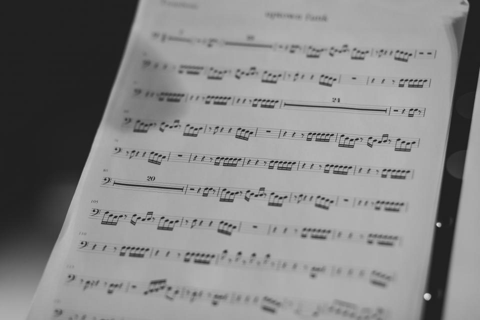 still items things music sheet notes score bokeh