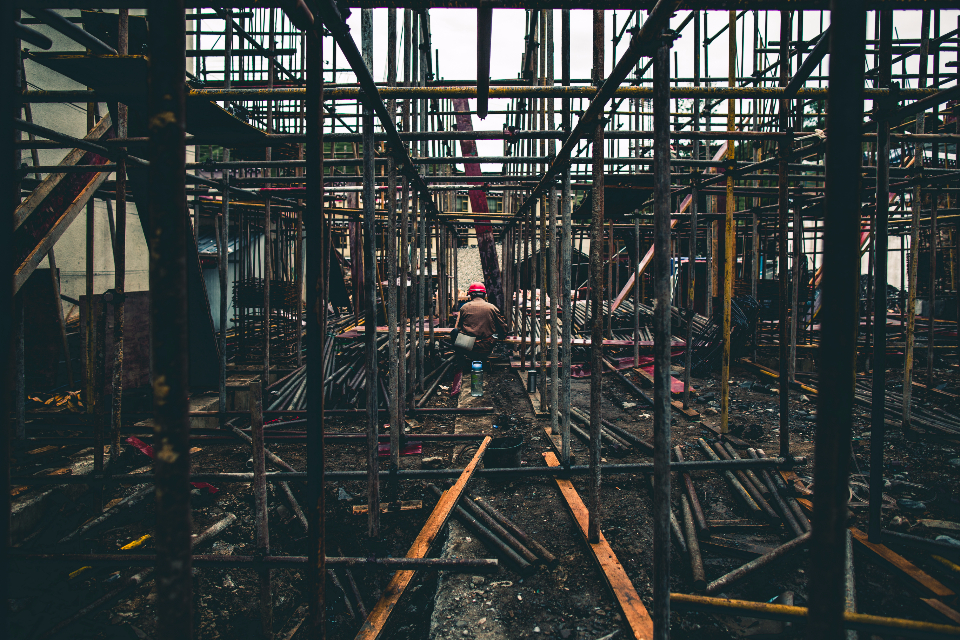 construction under construction building development manufacture structure architecture build fixing working man old old man Asian construct