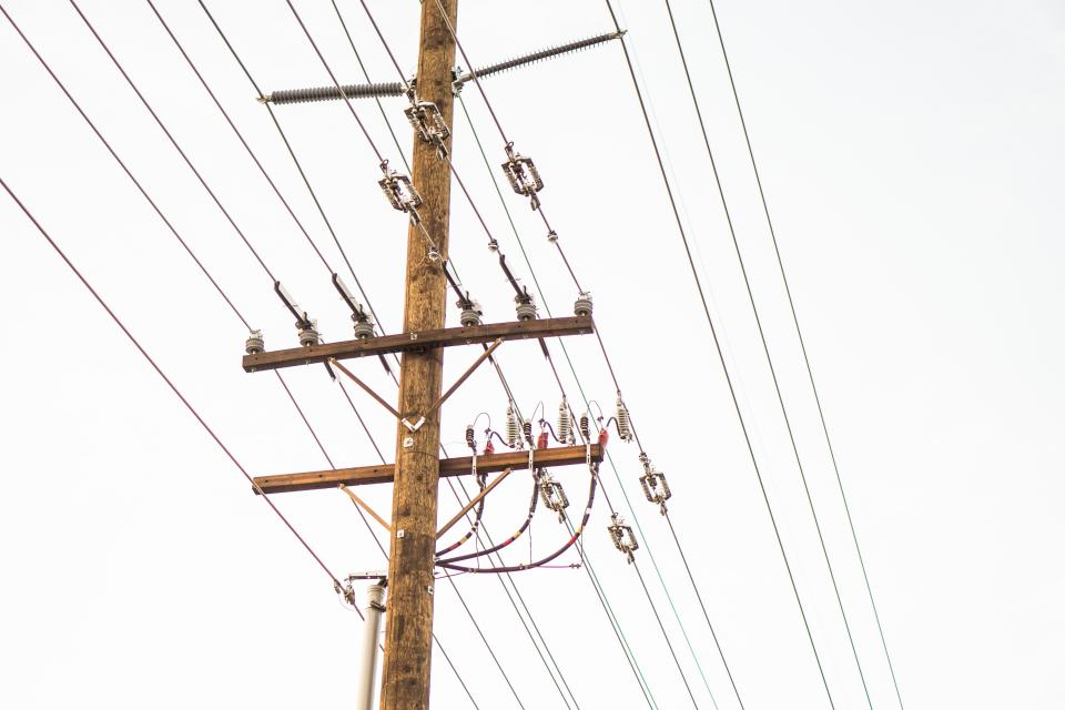 wood pole transmission line electricity