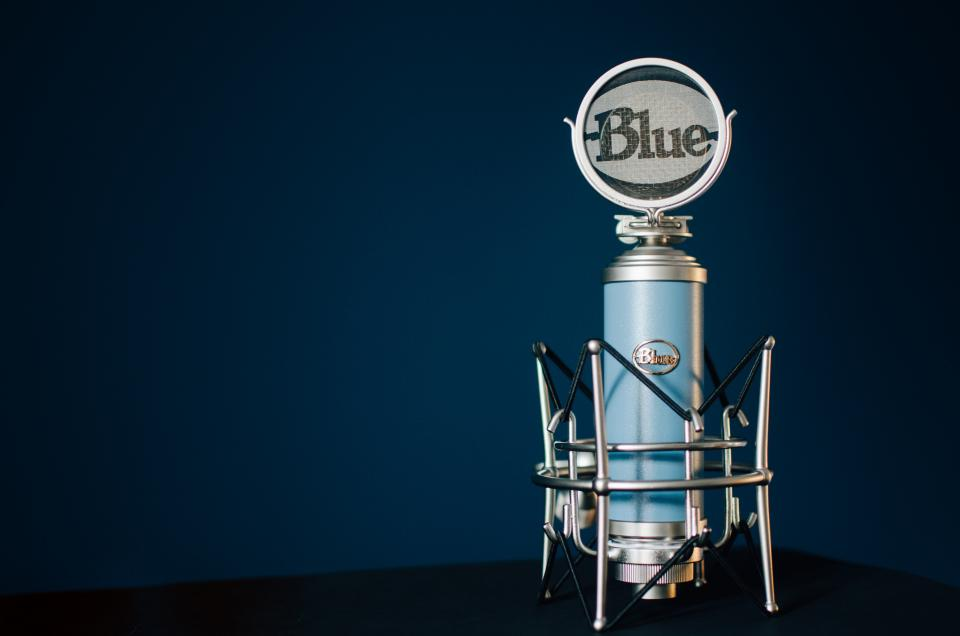 microphone condenser blue recorder filter sound music