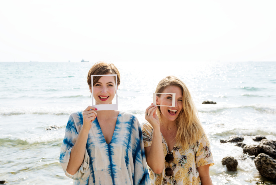 adventure carefree casual caucasian cheerful coast destination enjoy frame friends friendship fun girls holidays journey joy laughing leisure nature ocean photo scenic sea seascape smiling standing summer sunny toget