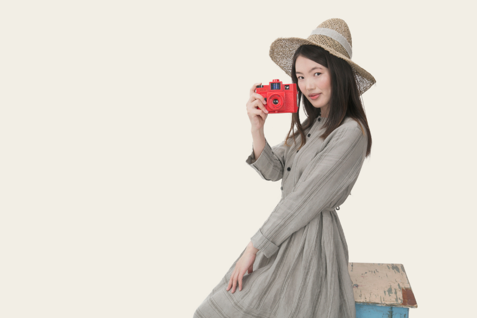 asian girl woman people fashion clothes hat camera photographer photography trendy