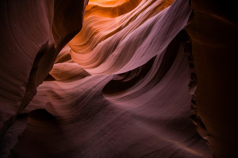 antelope canyon rock landscape nature