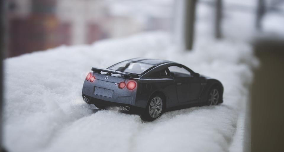 car auto vehicle toy snow winter