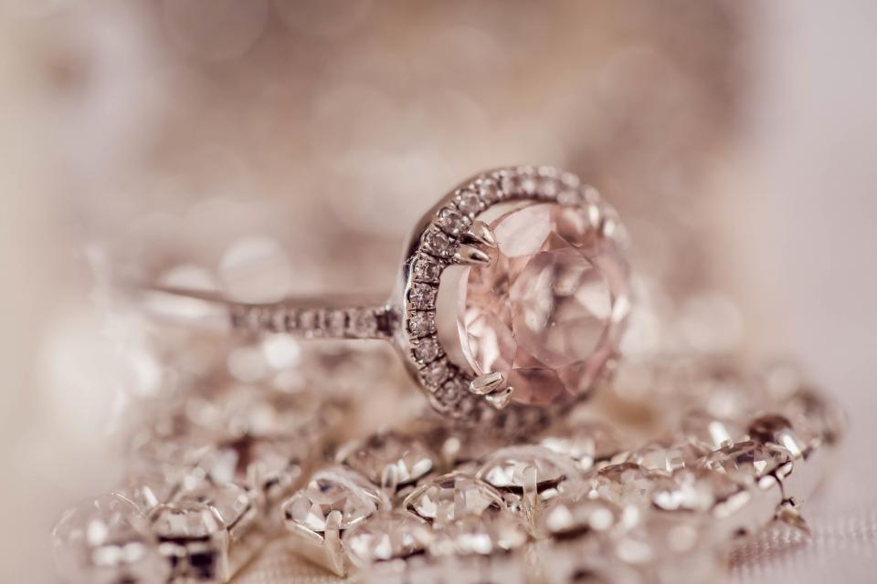 diamond ring jewelry blur