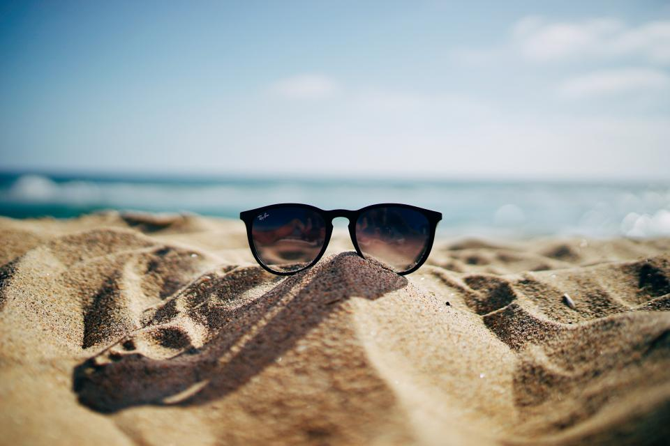 sunglasses ray ban fashion sand beach sunny summer eyewear