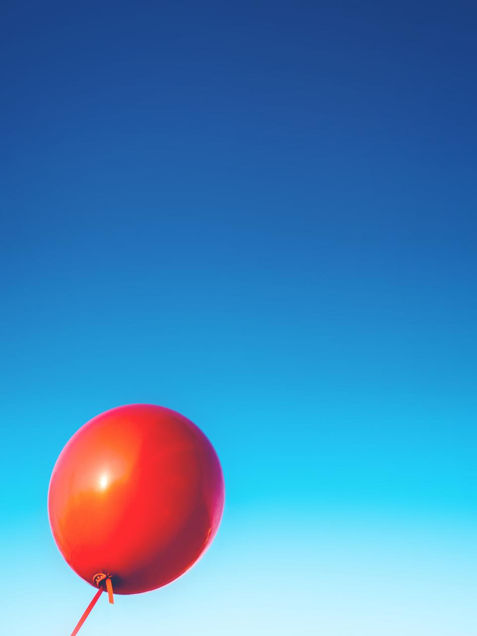 red balloon blue sky objects