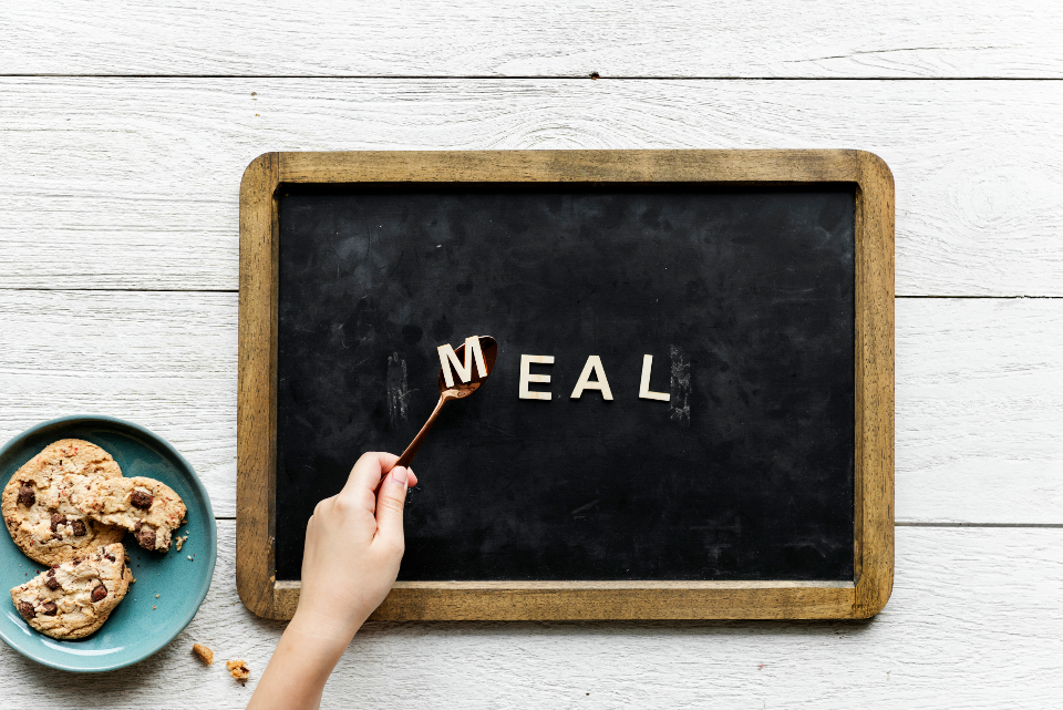 alphabet black board breakfast chalkboard chat communication cookie copy space decoration design design space dinner eat flat lay flatlay food hand lettering letters lunch meal message person plan text texture vintage
