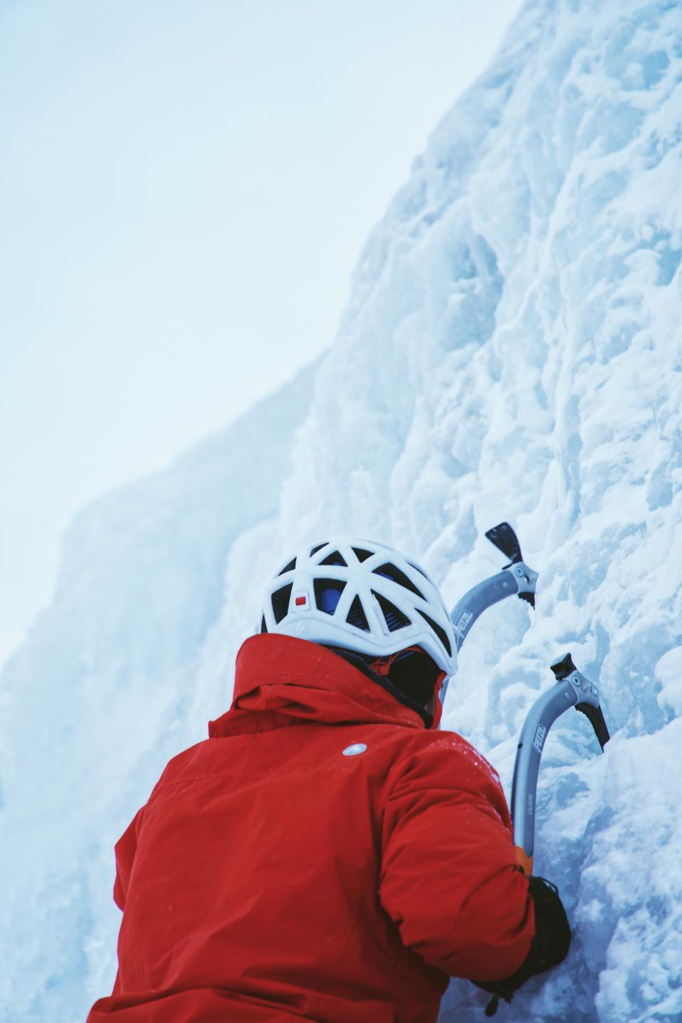 snow winter white cold weather ice nature people man helmet climb mountaineer