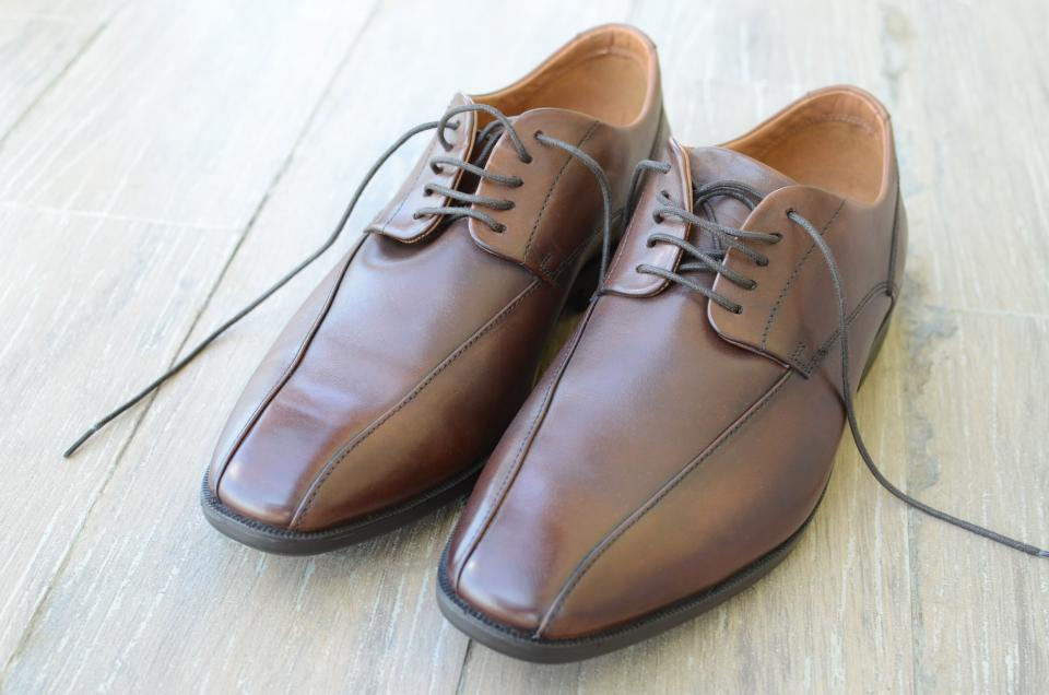 brown leather shoe footwear lace floor