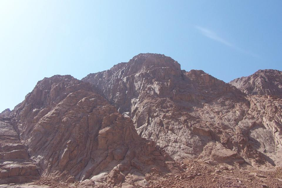 Mount Sinai mountains rocks sunshine