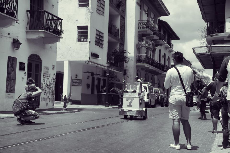 Photographers Panama streets city buildings apartments balconies people architecture