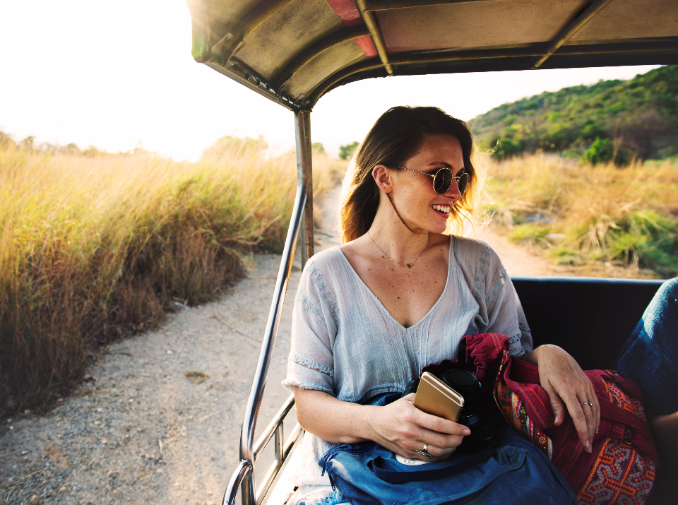 calm explore freedom tranquil scene travel recreation girl nature road trip woman smiling grassland peaceful grass recess hobby journey leisure tourism relaxation chill young sunglasses holiday enjoyment vacation traveling