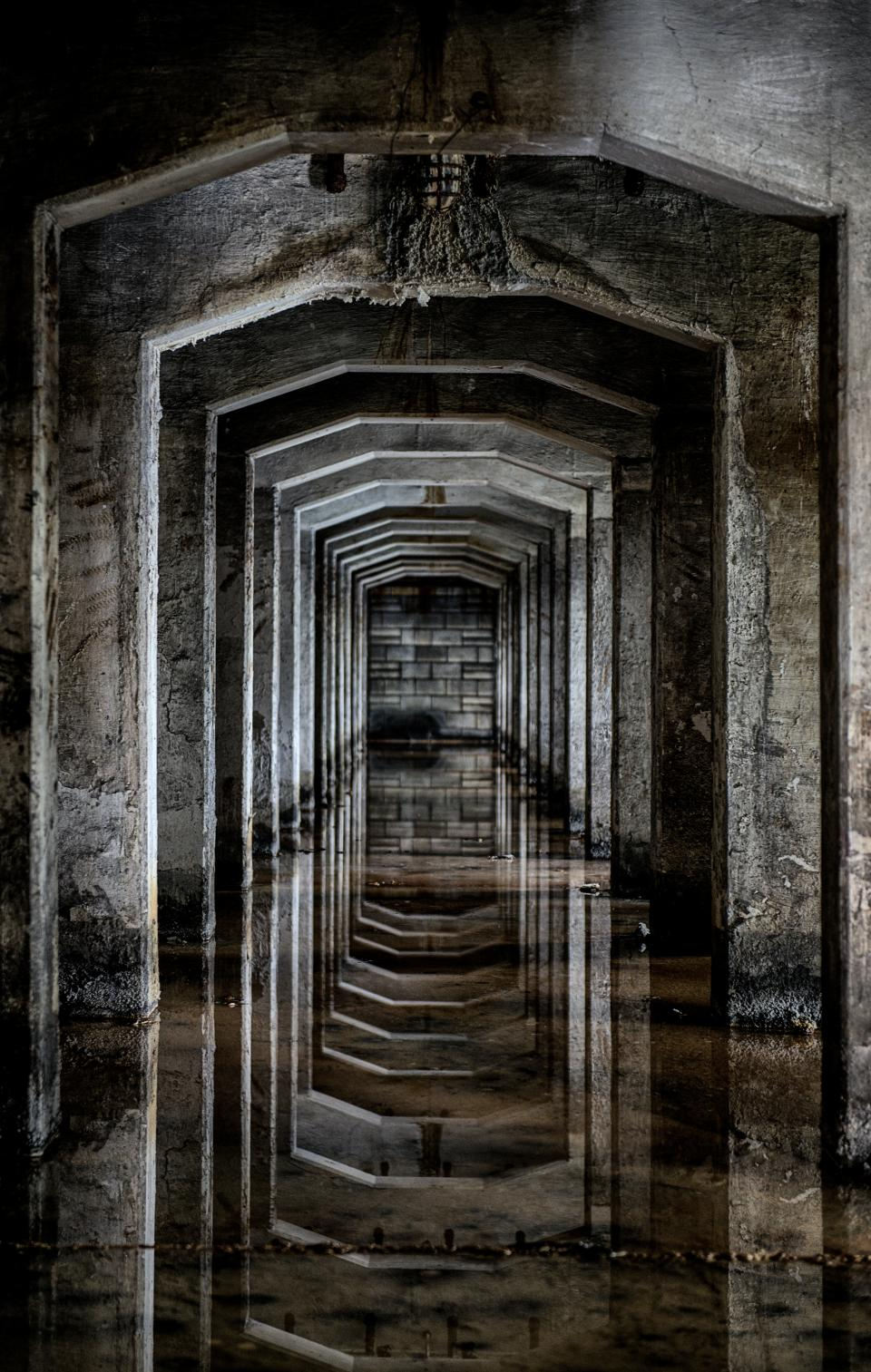 architecture building infrastructure tunnel water reflection