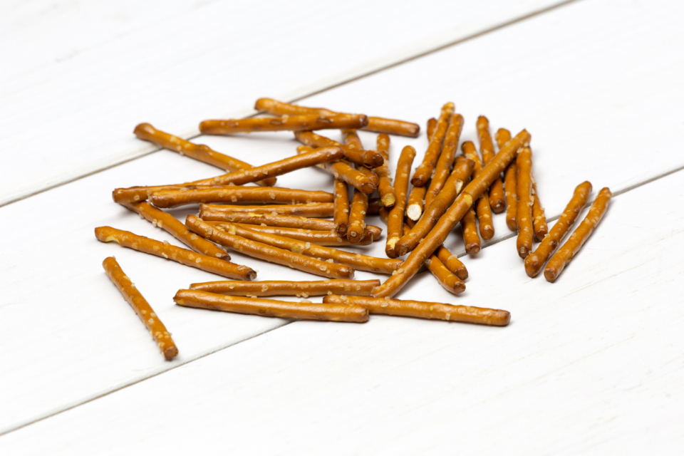 pretzels food close up macro white boards rustic table salt edible nutrition calories diet appetizer bake crispy snack wheat