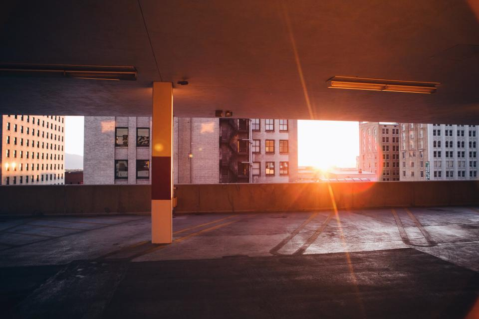architecture buildings office residential city parking high rise urban metro patterns solar flare