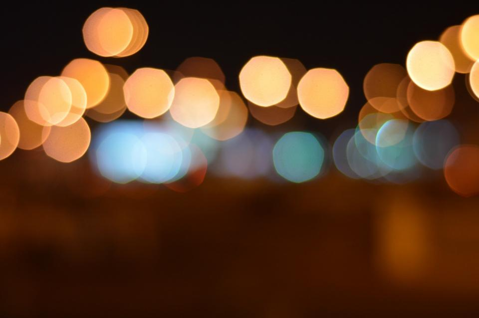 dark night light bokeh blur