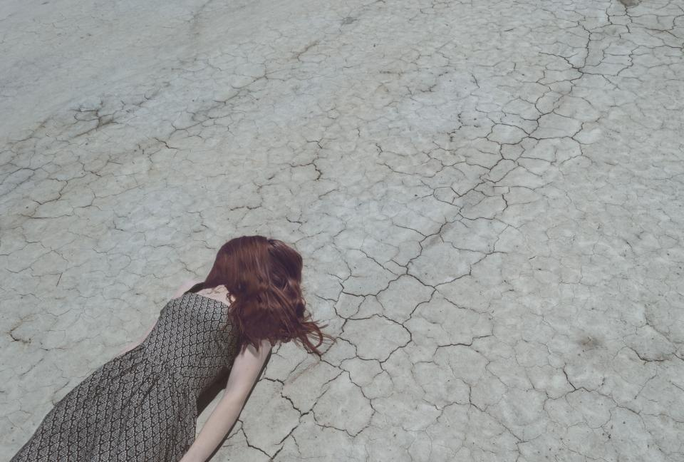 people woman road crack hair dress