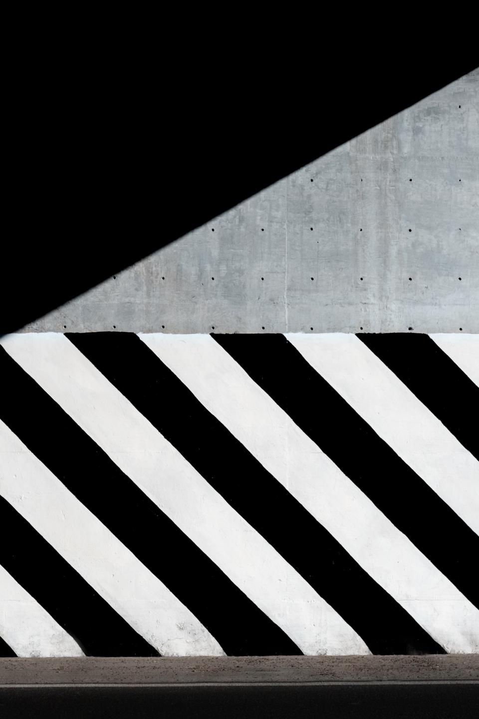 black white concrete paint shadow wall city urban road
