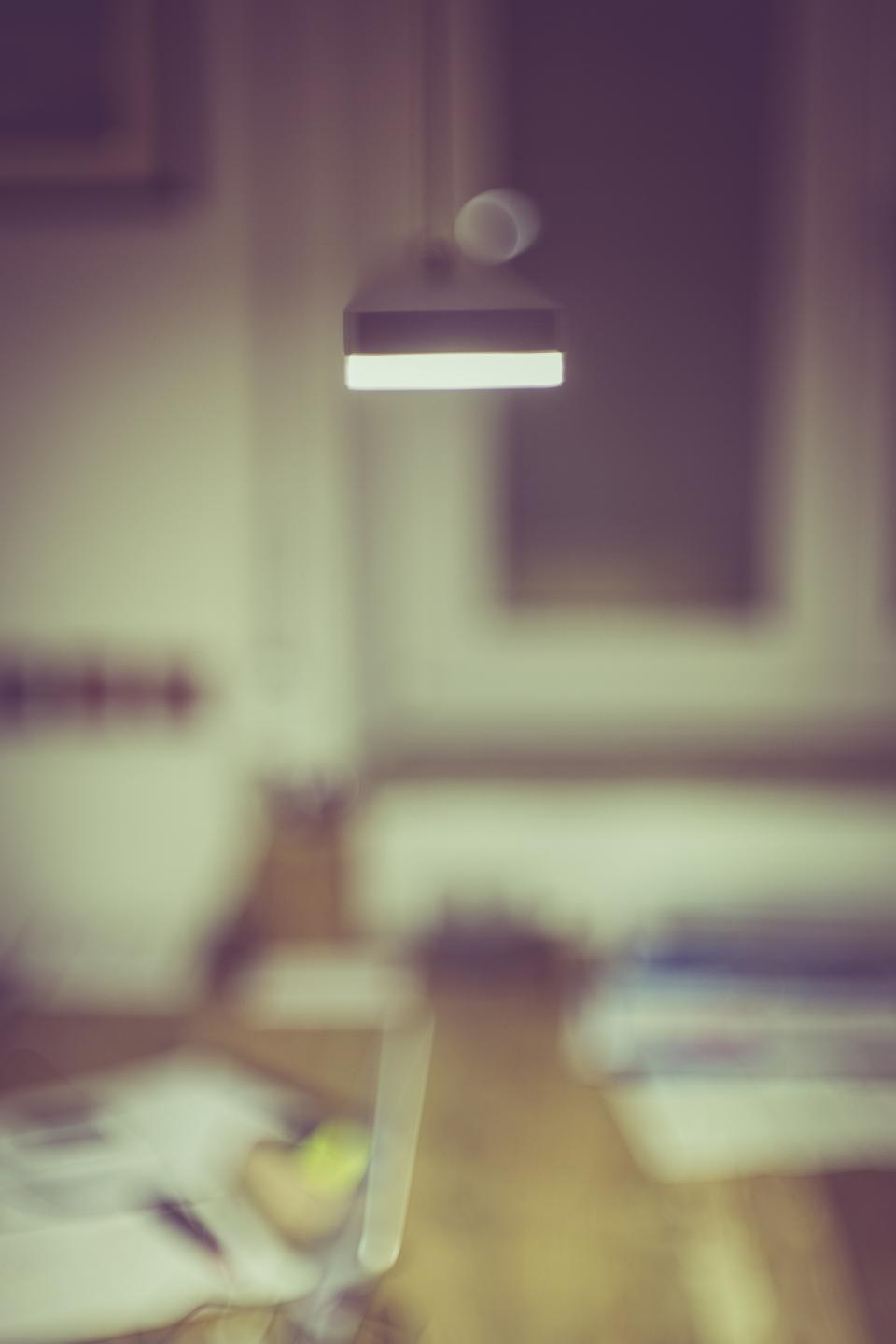interior lamp abstract blur