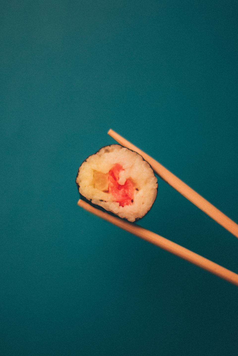 sushi chopsticks maki food