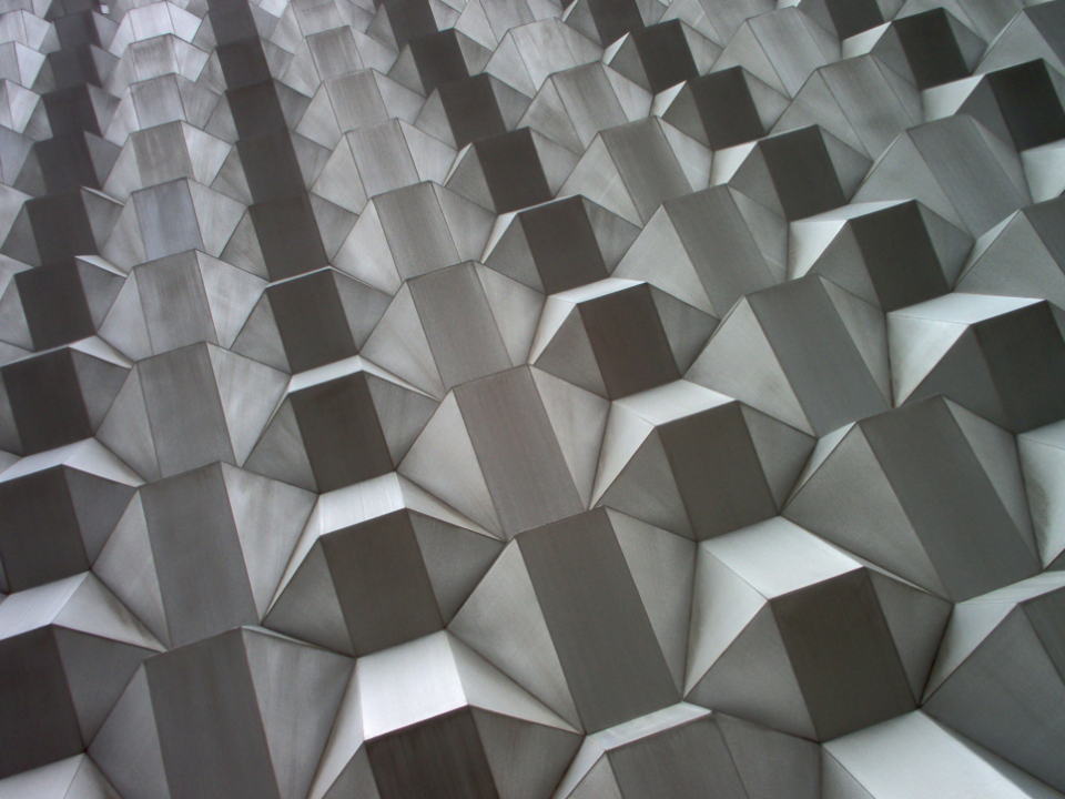 building abstract detail wall exterior facade modern design futuristic city perspective architecture geometric pattern