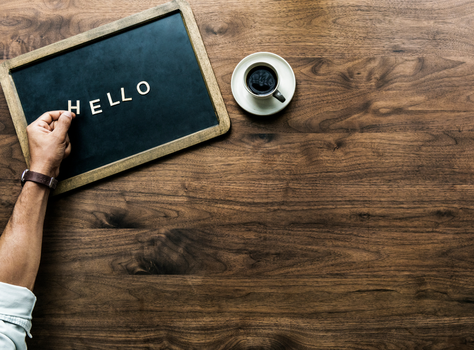 antique background black board board cafe casual chat coffee communication copy space cup design design space dialog drink enjoying flat lay flatlay font greeting hand hello hey hi hot drink letter letters message mug person speech