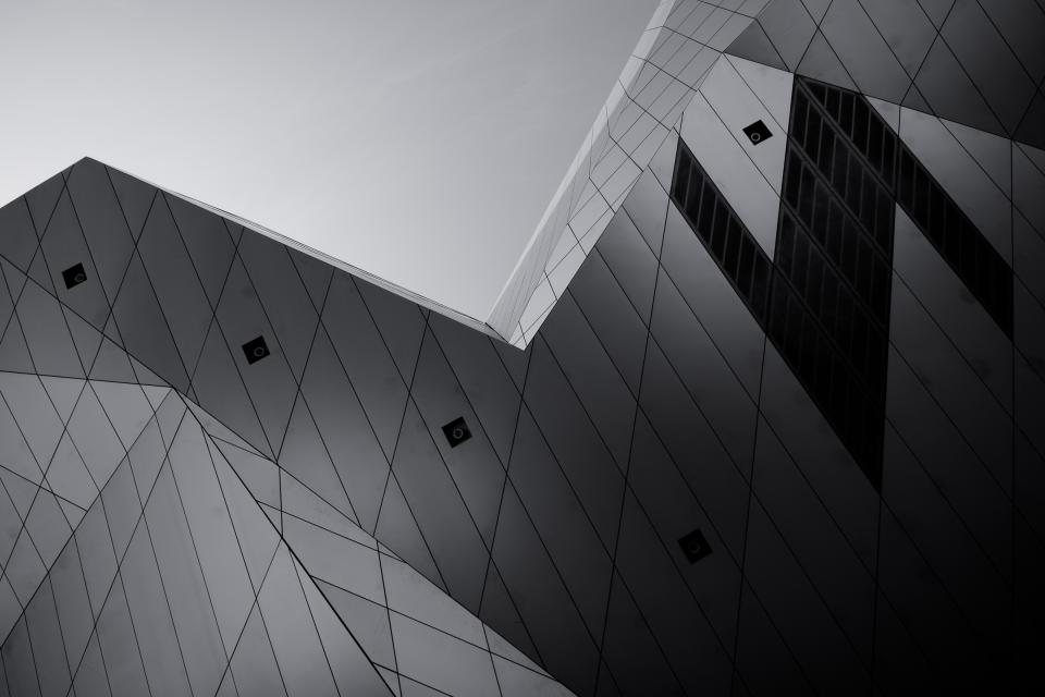 architecture building infrastructure museum black and white