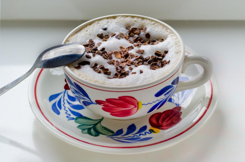Boerenbont cup cappuccino coffee cocoa sprinkles
