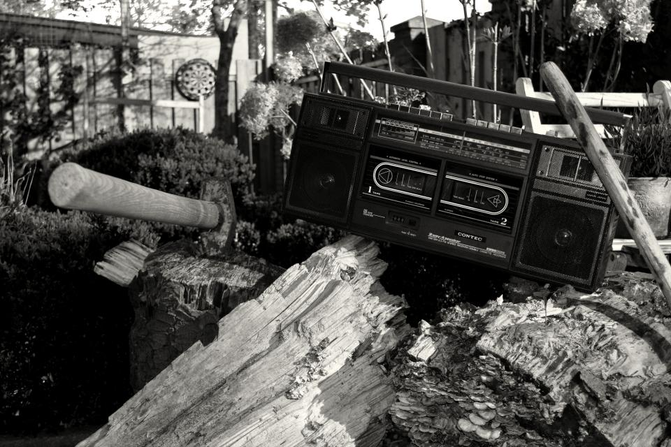 black and white monochrome woods vintage radio retro outdoors woods