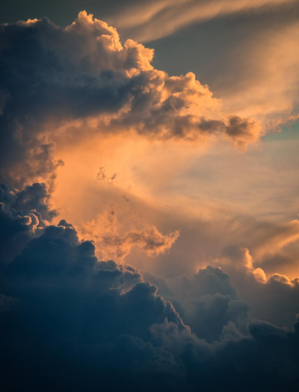 nature clouds sky aerial sunset