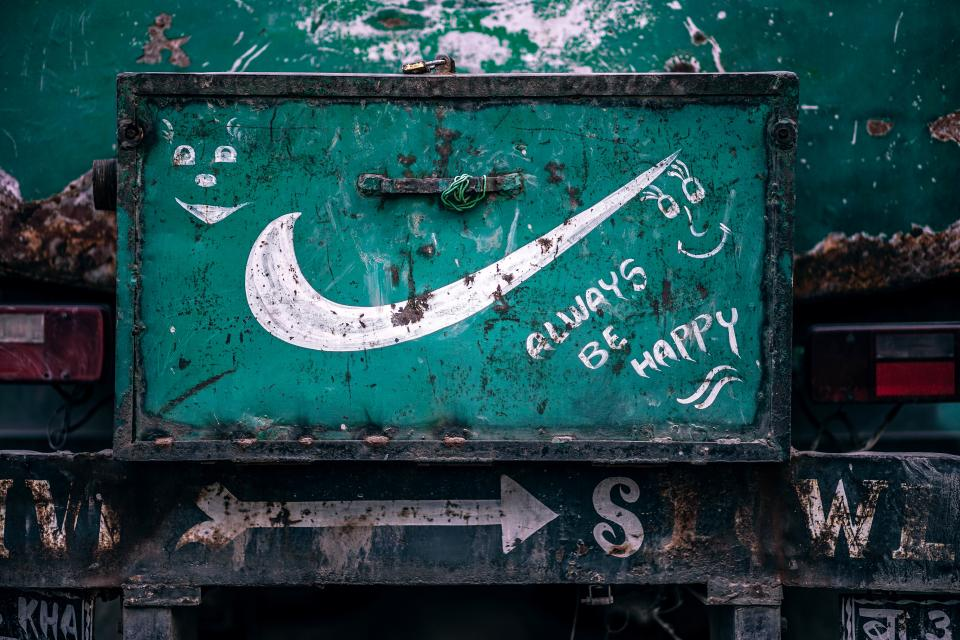 vandal paint green white steel trash dirty statement happy