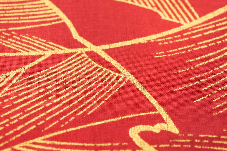 red gold fabric texture clothing sewing materials macro crafts pattern