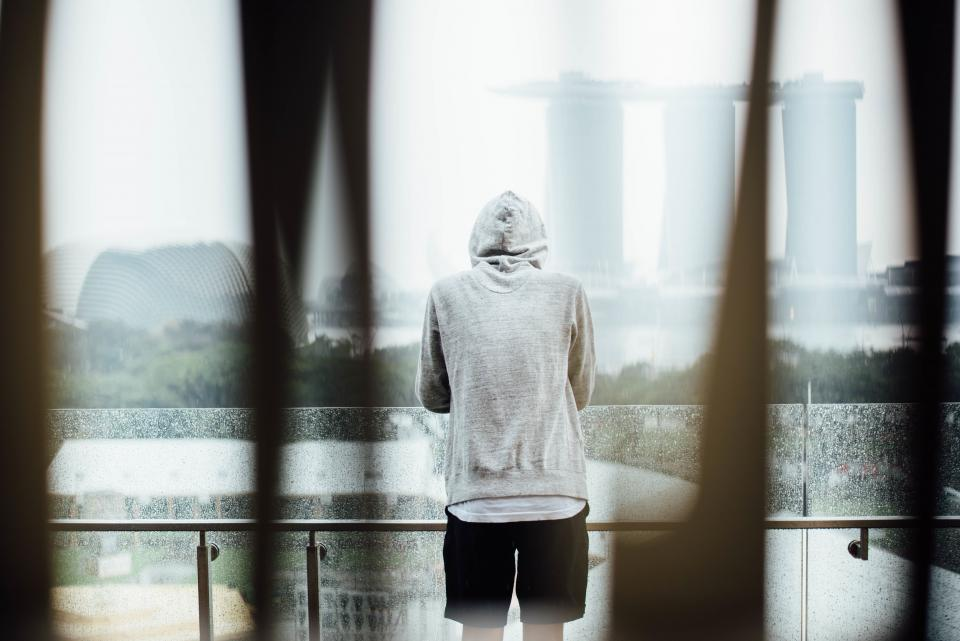 alone hoodie man sad thinking people