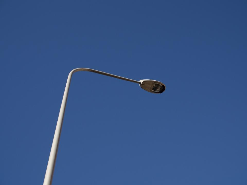 blue sky lamp post