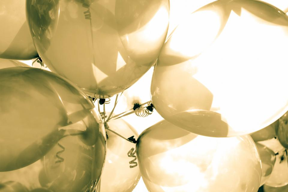 balloon clear silver sunny day party