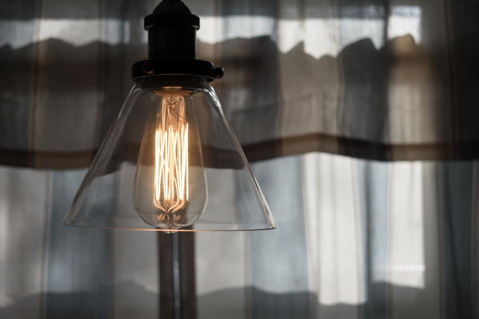 electricity light bulb lamp curtain