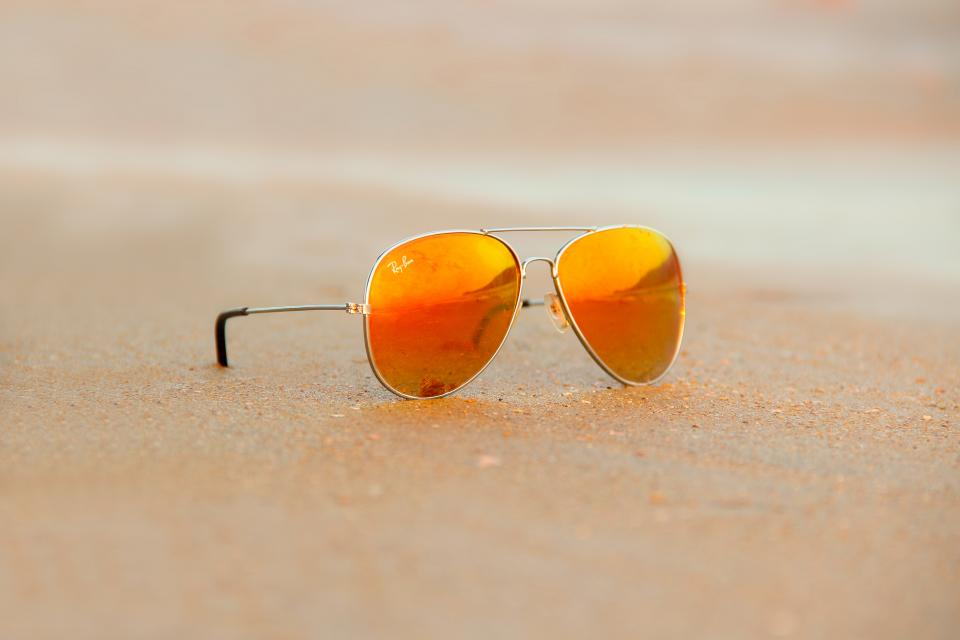 sunglasses eyewear ray-ban fashion beach coast shore travel