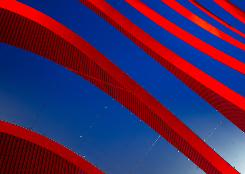 blue red steel design art architecture construction