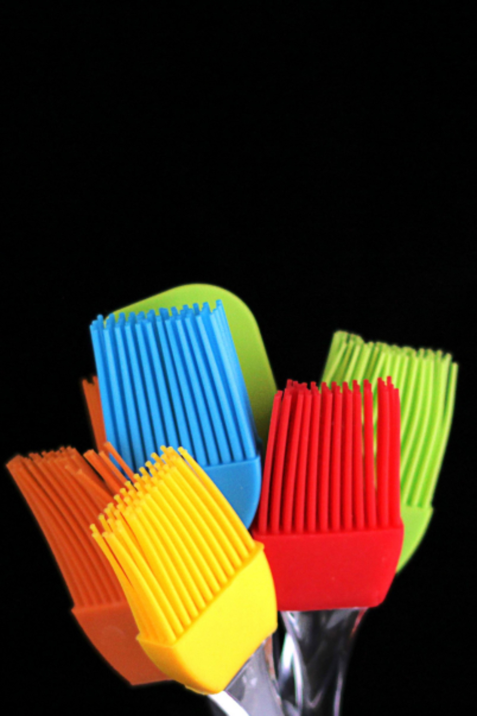 isolated pastry brushes colorful bake baking bakery homemade close up cooking equipment utensils food household kitchen kitchenware object