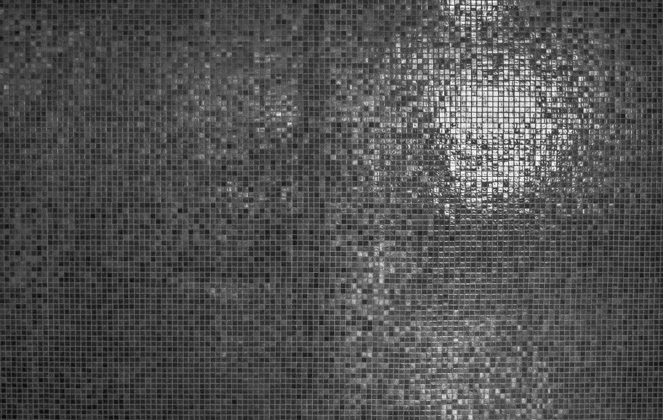 art abstract tiles square pixels light dark monochrome black and white