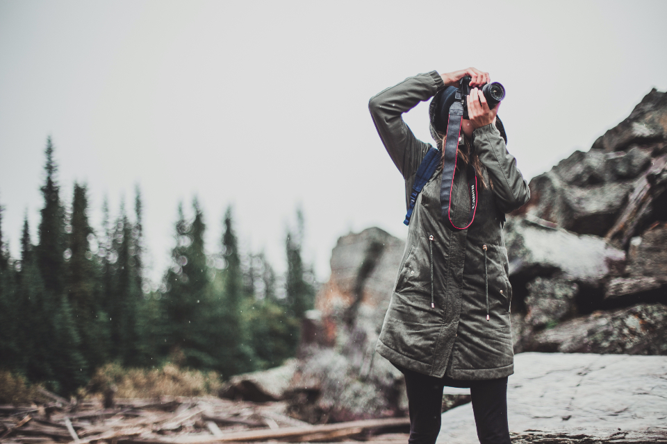 girl female snow outdoors nature adventure landscape hike mountain travel portrait leisure hiking recreation action blonde photographer photography camera anon cold