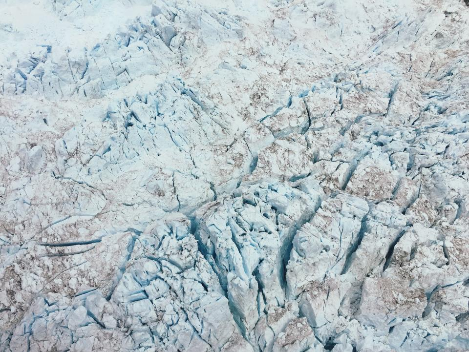 rock formation white crack ground travel adventure aerial