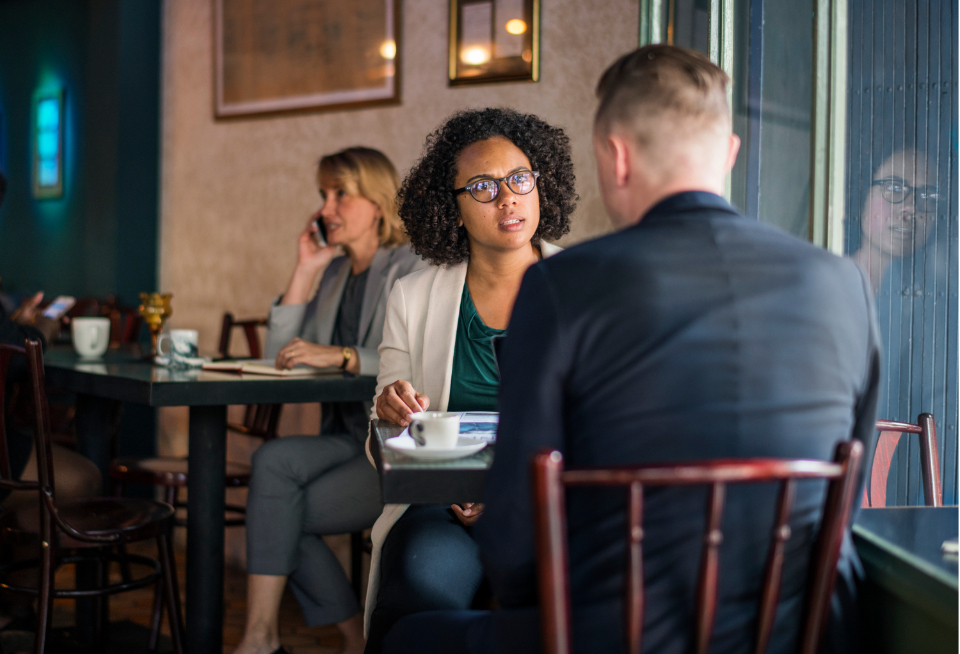 african american argument breakfast business businessman businesswoman busy cafe casual coffee coffee cup coffee shop couple date dating debating discussing discussion excited glasses global