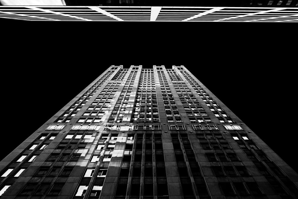 architecture building infrastructure structure establishment apartment windows condominium hotel black and white monochrome dark night