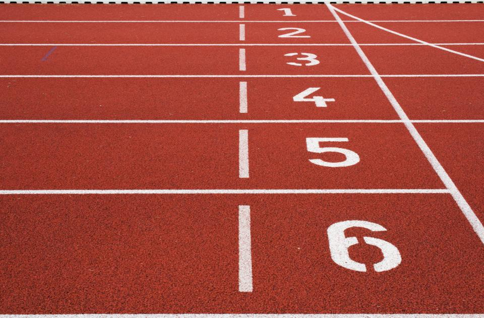 track race running sports numbers start finish olympics fitness