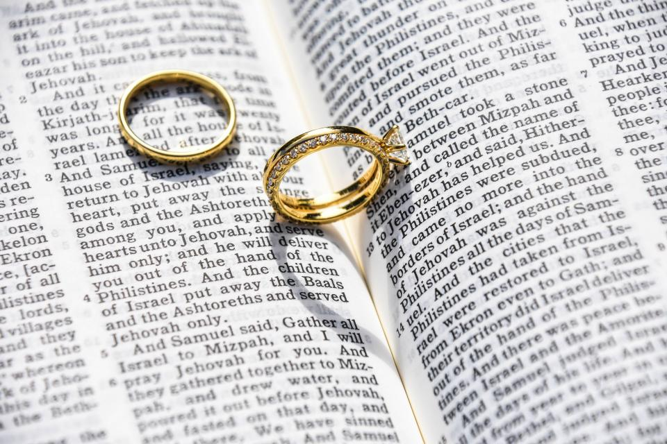 wedding marriage ring bible catholic love intimate verses chapter book testament sheets chapter verses vows