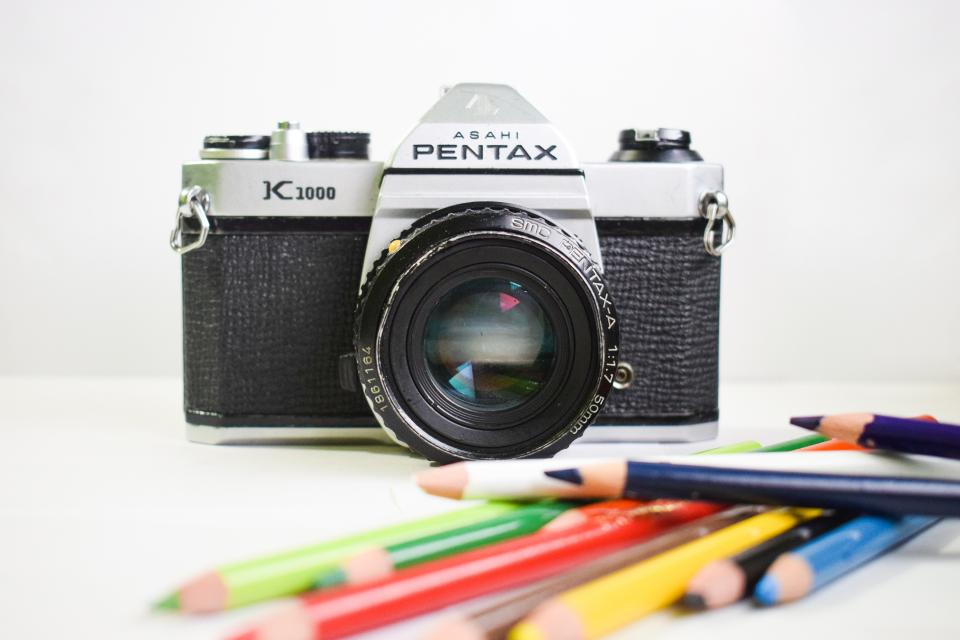 camera lens photography pentax color pencil art