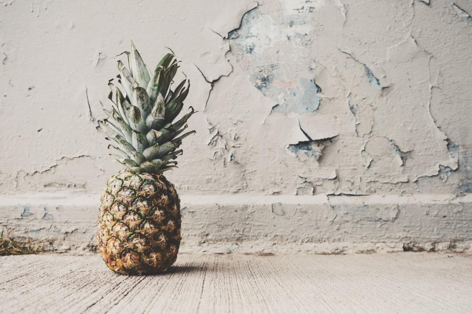 pineapple dessert appetizer fruit juice crop paint wall